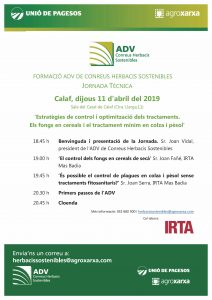 Jornada ADV Herbacis Sostenibles Calaf