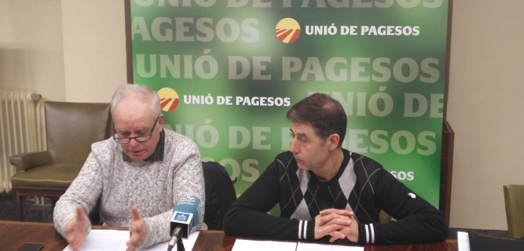 Santi Querol i Rossend Saltiveri, a la roda de premsa avui a Lleida