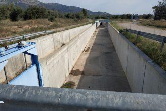 Un tram ja construït del canal Xerta-Sénia