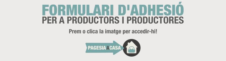 Formulari d'adhesió per a productors i productores