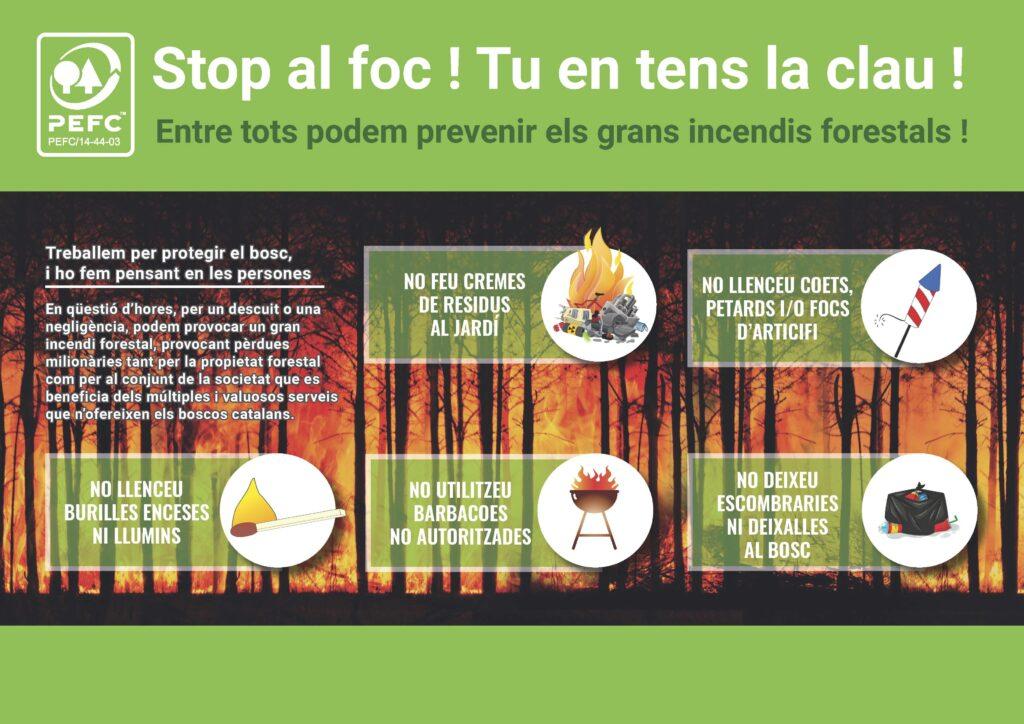 PEFC Catalunya - inforgrafia incendis
